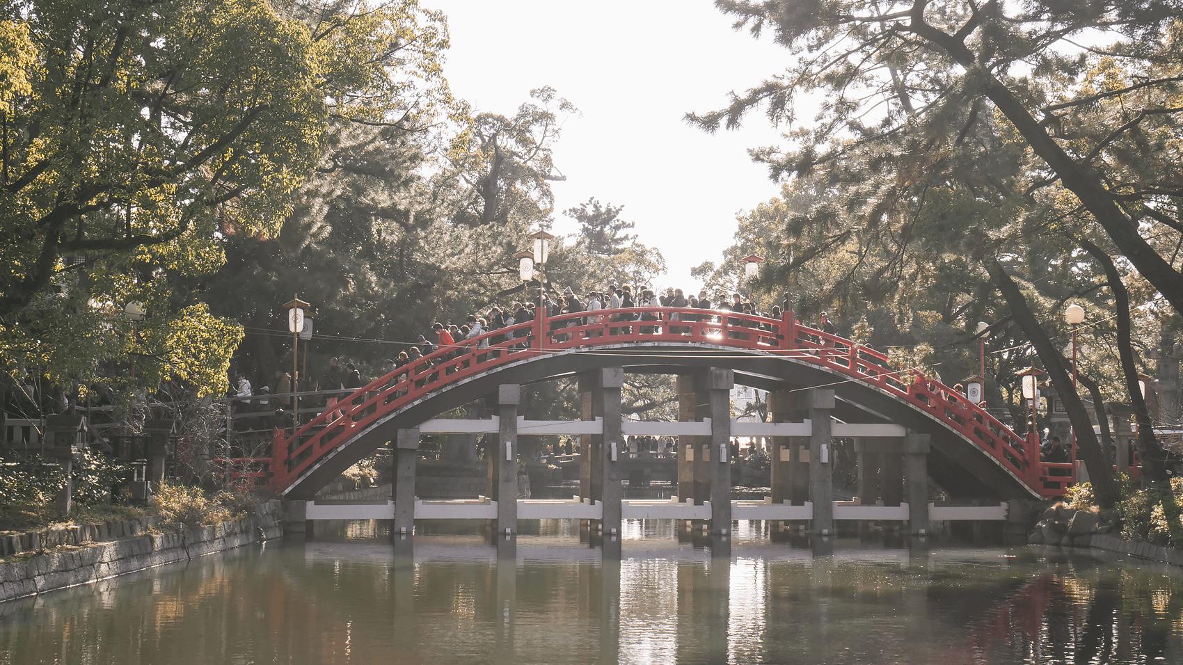 橋を遠くから撮影