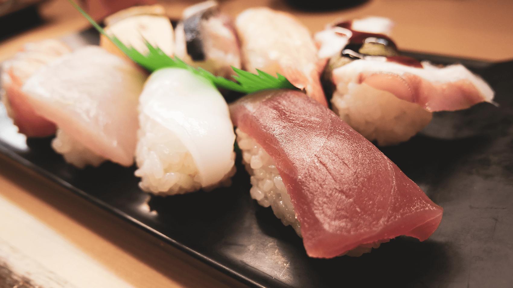 裏なんばのときすしの一人前寿司