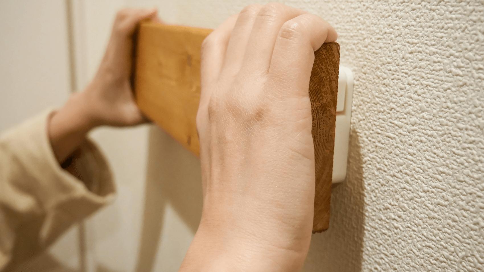板を壁に取り付ける その2