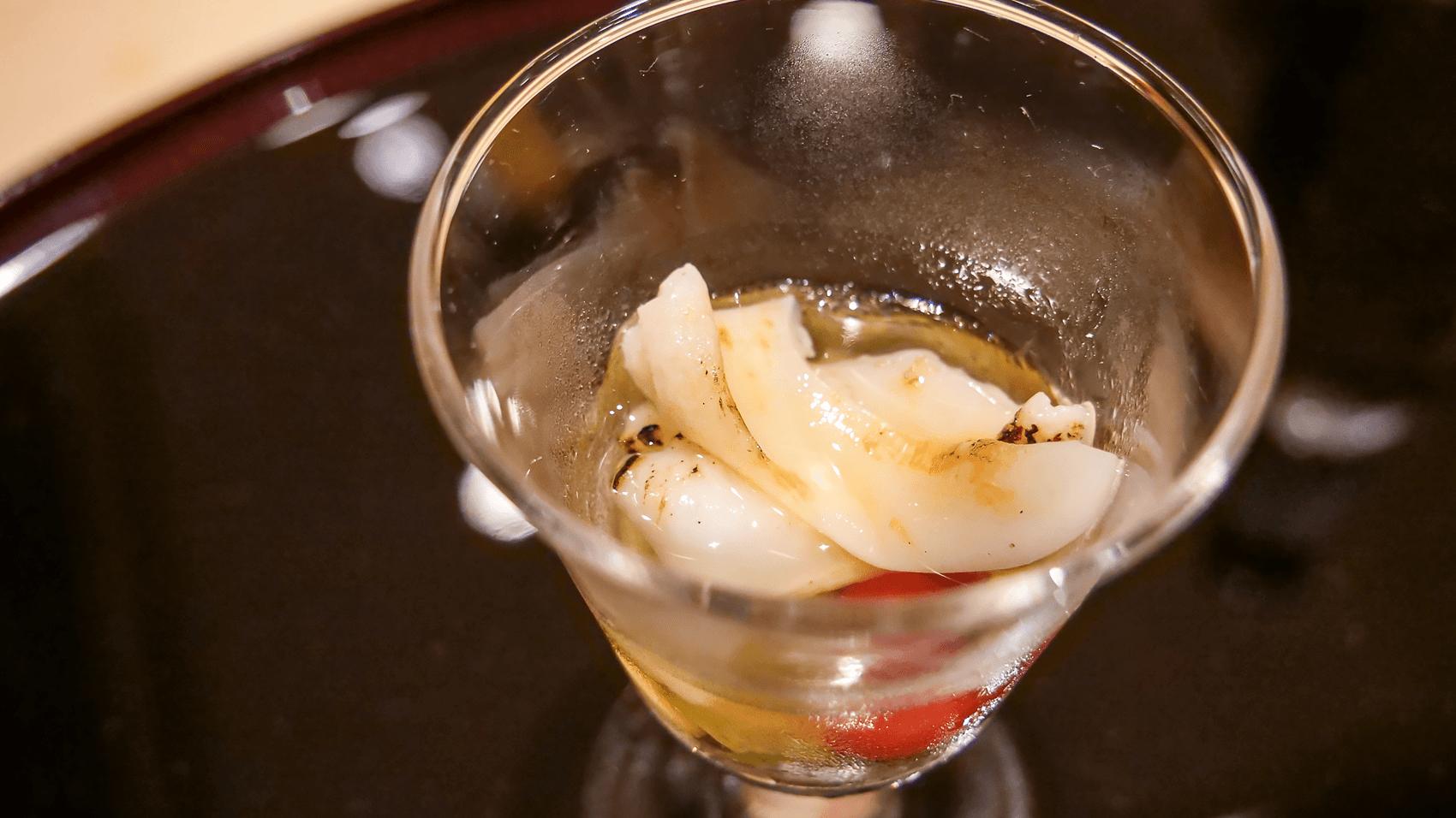 石垣貝とじゅんさい酢
