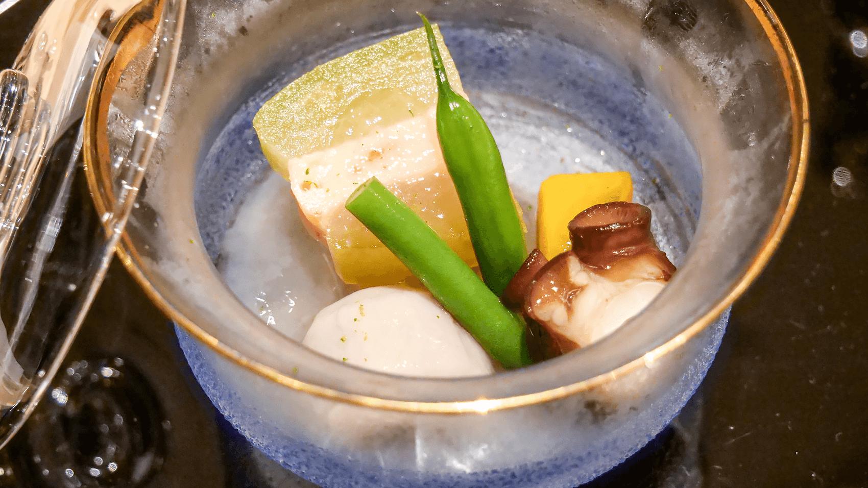 冬瓜海老博多と夏野菜の冷やし鉢
