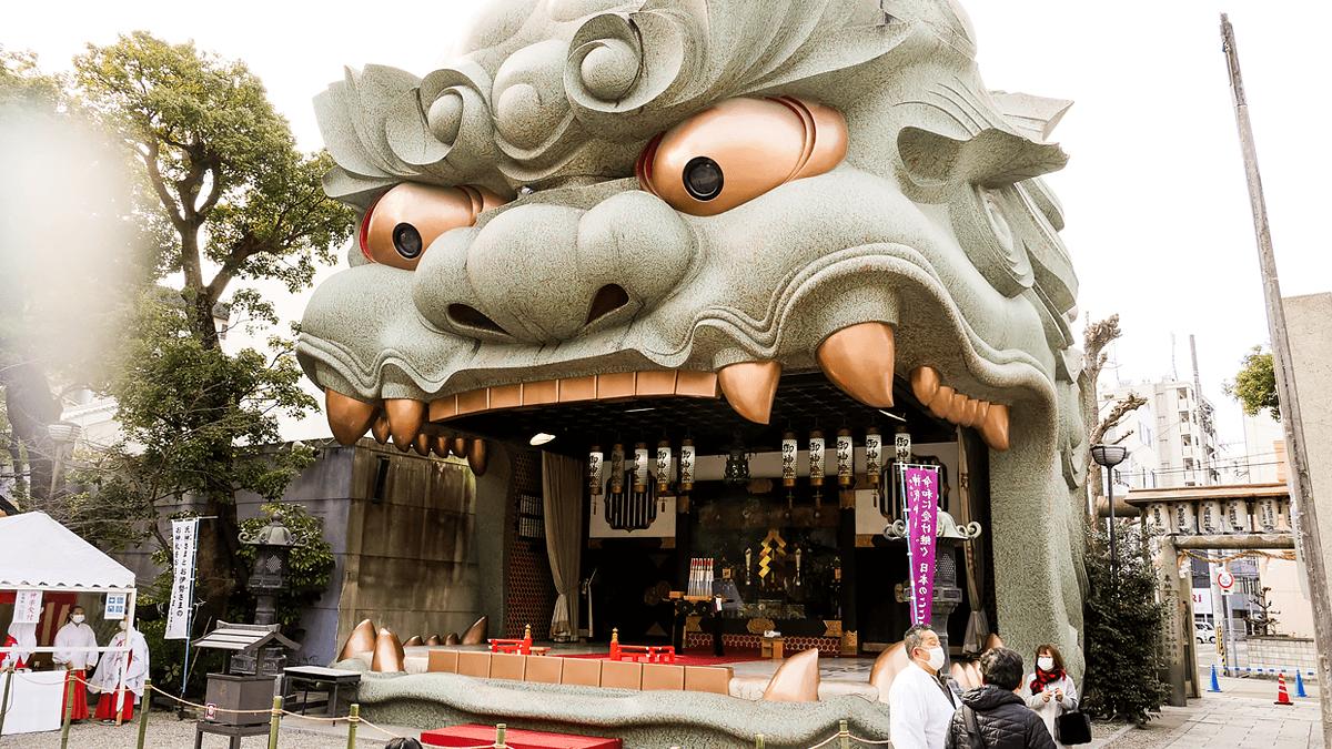 難波八坂神社の獅子舞台