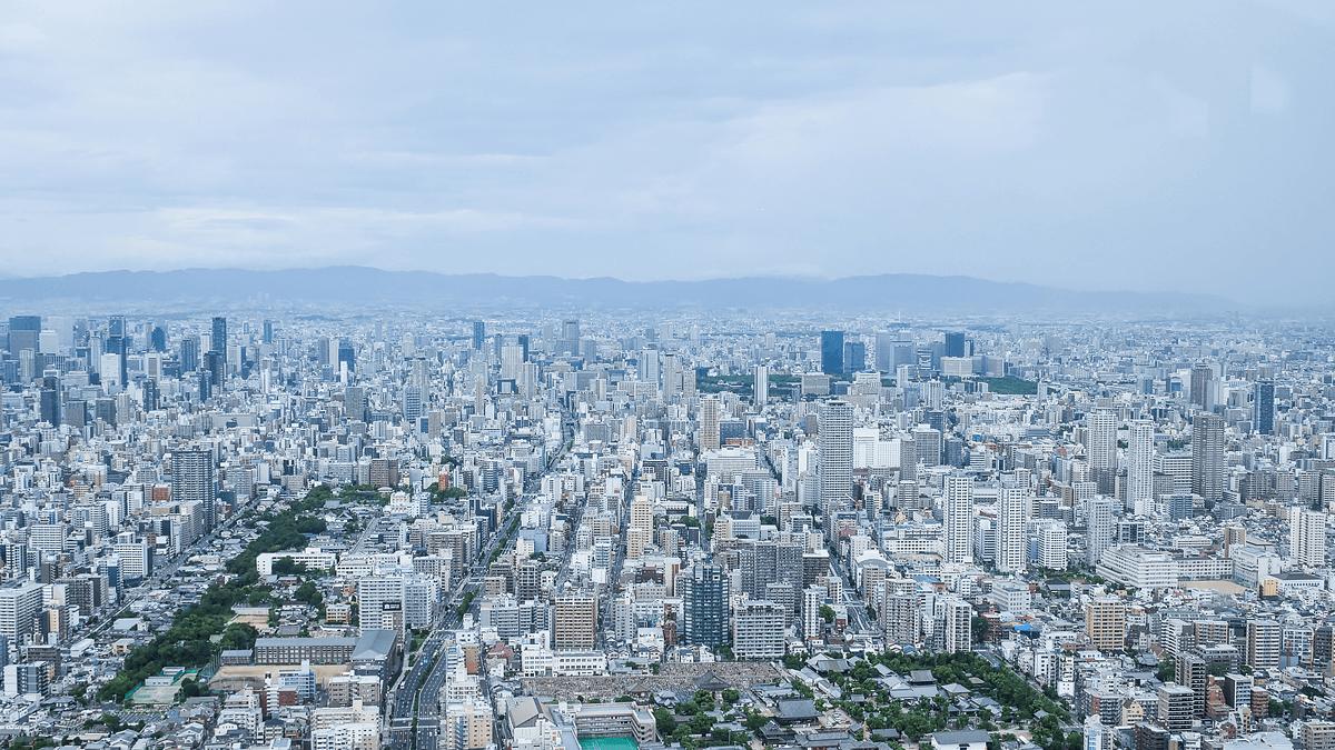 ハルカス300からの大阪の景色