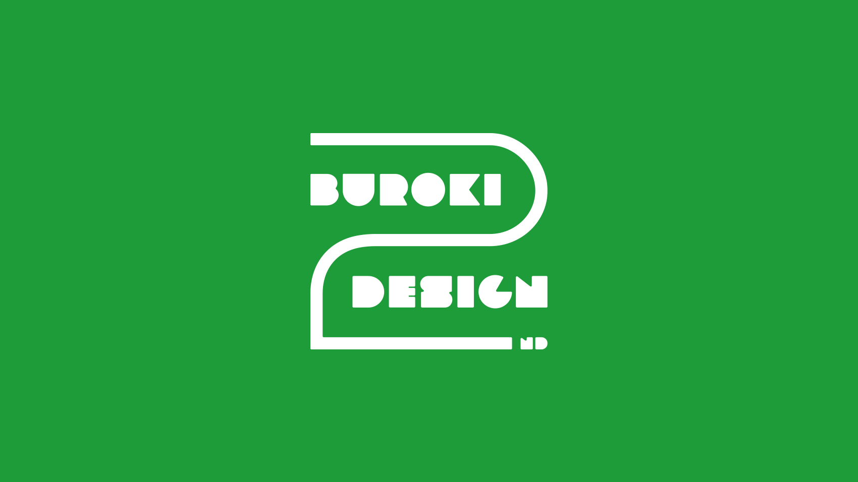 BUROKI design 2周年ロゴデザイン