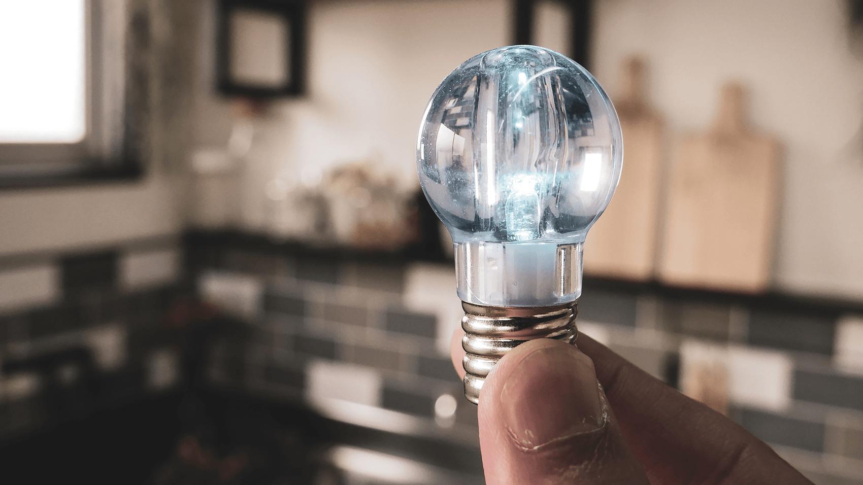 電球キーホルダー