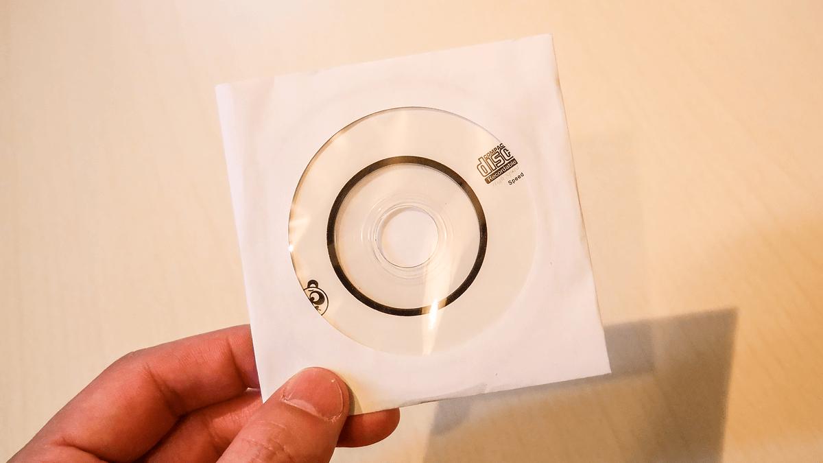 付属のミニディスク